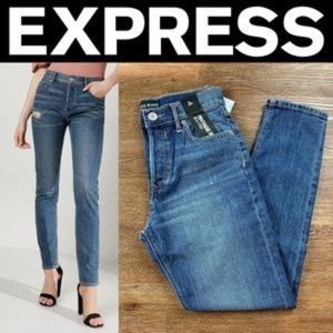 NEW EXPRESS ORIGINAL VINTAGE SKINNY ANKLE JEANS